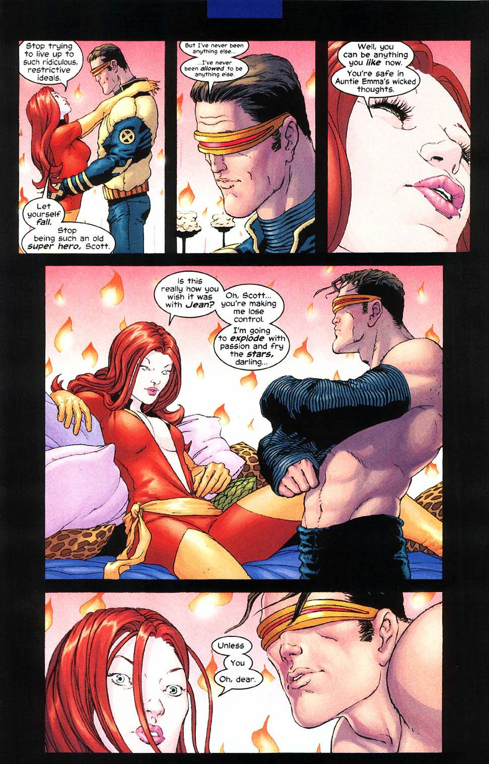 From New X-Men #138 by Grant Morrison, Frank Quitely, Avalon Studio and Chris Chuckry