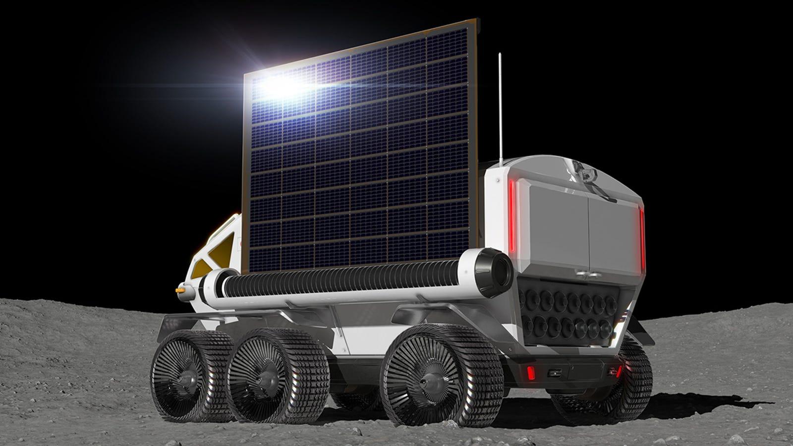 Illustration for article titled La agencia espacial japonesa quiere poner en la Luna este espectacular rover presurizado para 2029