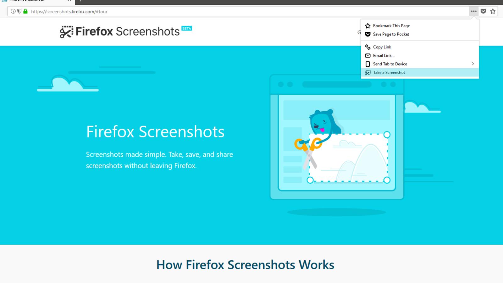 Illustration for article titled Cómo usar la sorprendentemente sencilla e intuitiva herramienta de Firefox Quantum para capturas de pantallaem/em