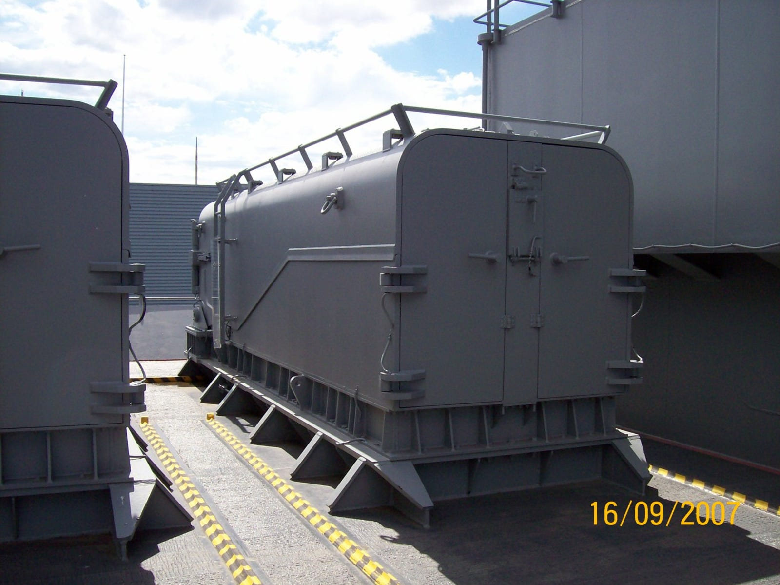 One of eight box launchers for BGM-109 Tomahawk missiles.