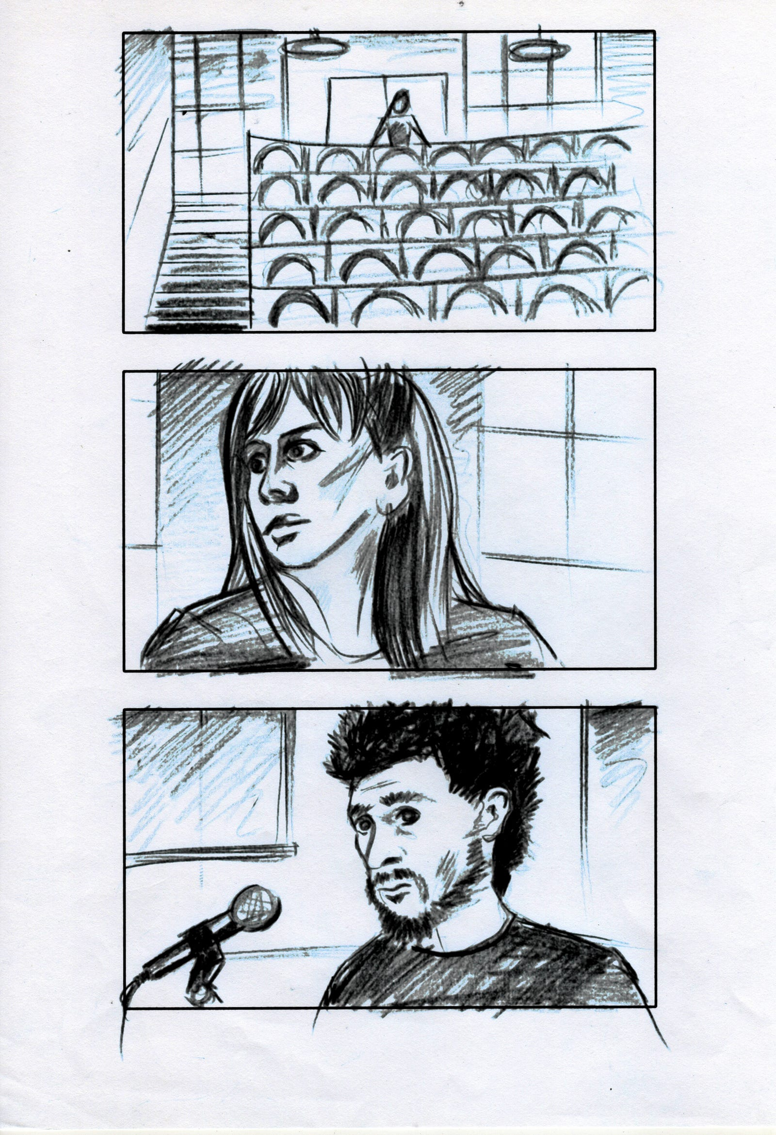 "Storyboards for James Goss' ""No Place"""