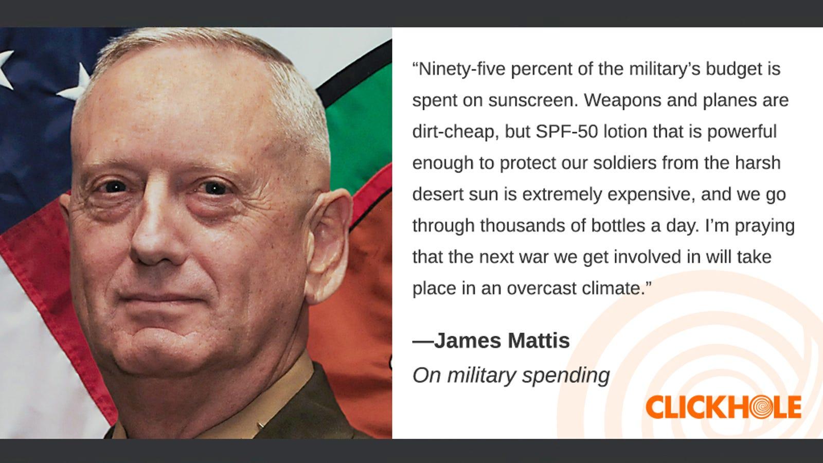 Illustration for article titled Find Out What James Mattis, em/emRachael Ray, And em/emHelen Hunt Have To Sayem/em