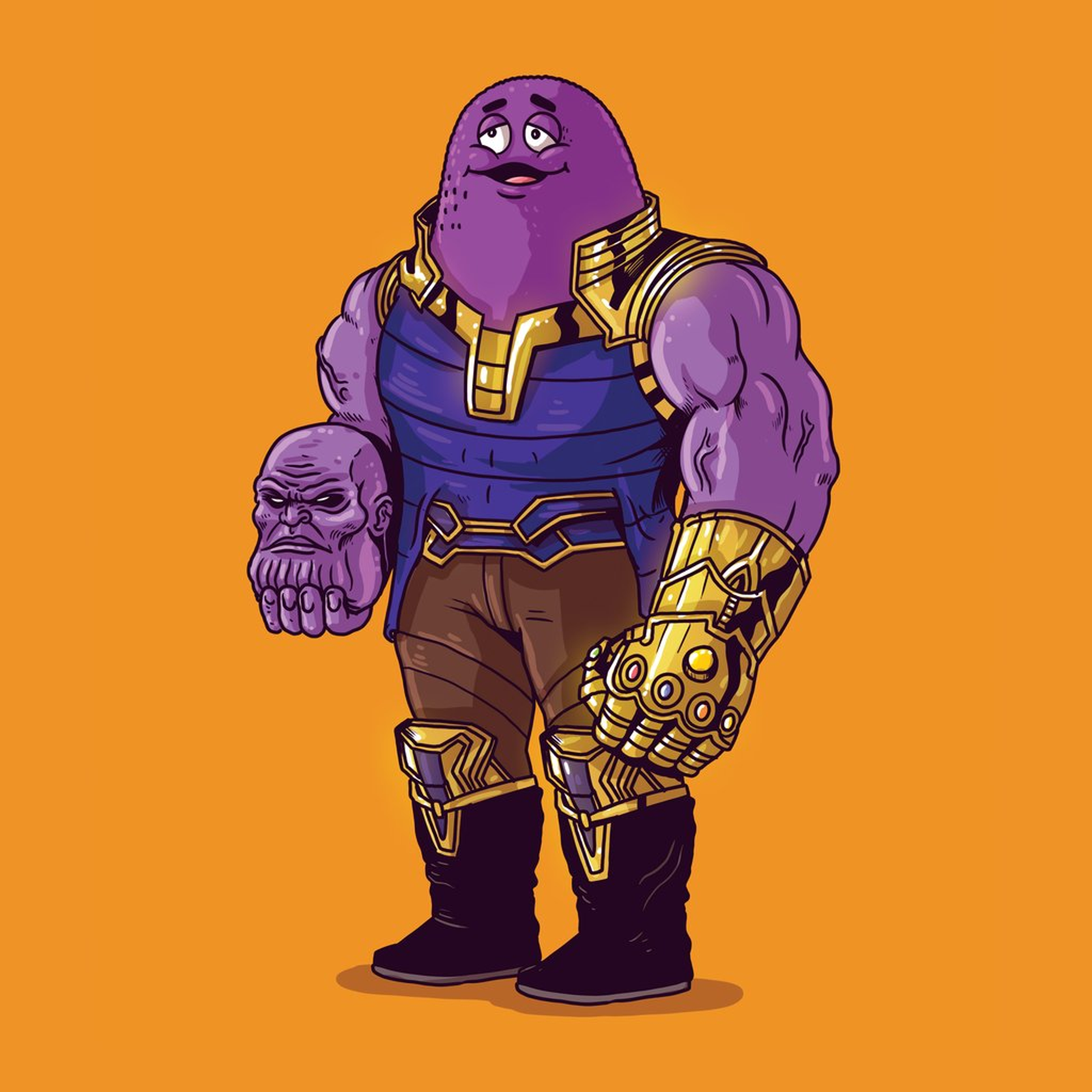 Thanos Unmasked by Alex Solis