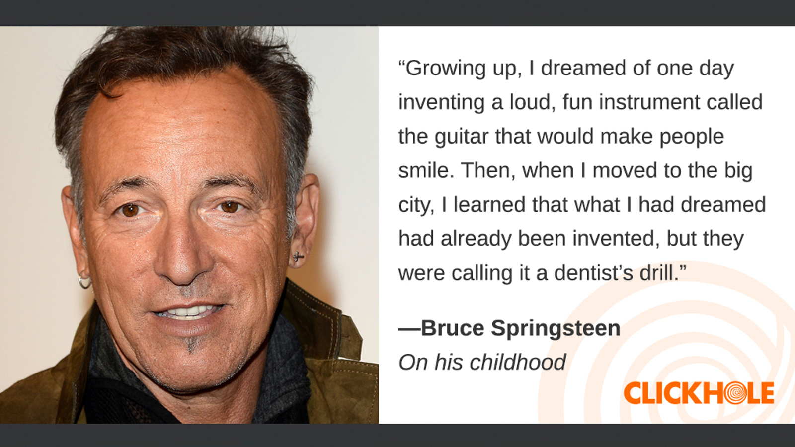 Illustration for article titled Find Out What Bruce Springsteen, Ira Glass, Colin Powell, And More Have To Say