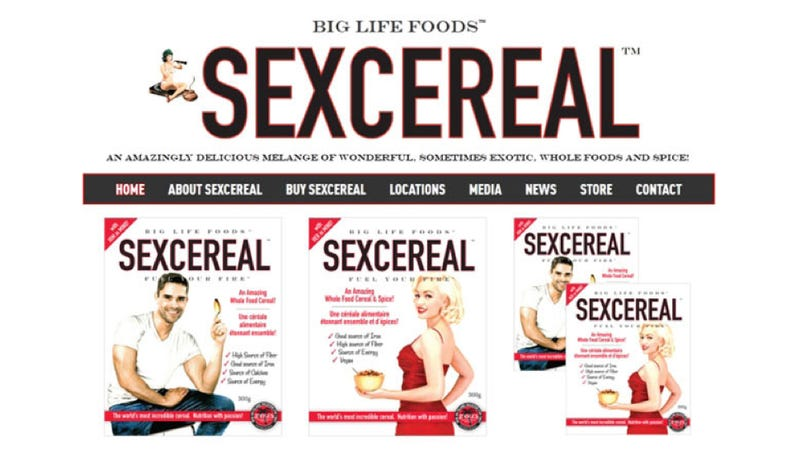 Sex cereal advertisement