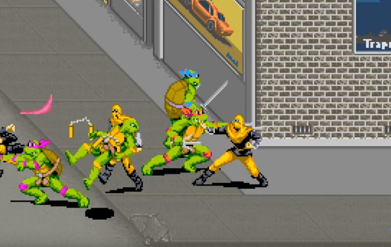 Illustration for article titled iTeenage Mutant Ninja Turtles/i Was Arcade Co-Op Action At Its Finesti/i