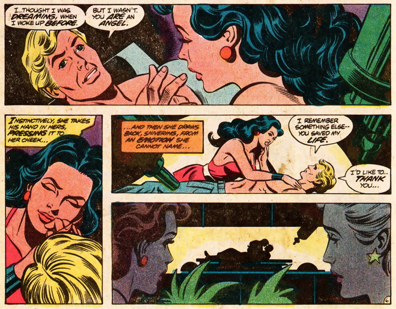 Diana meets Steve again for the very first time in Wonder Woman #271.  (Image: Jose Delbo, Dave Hunt, Jerry Serpe, and John Costanza / DC Comics)