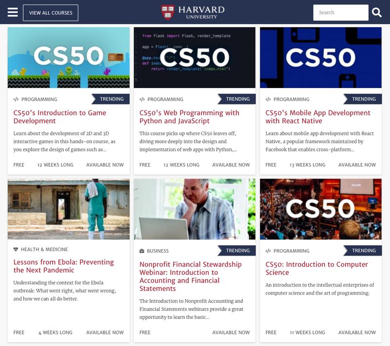 Harvard University Opens Its Doors With Over 60 Free