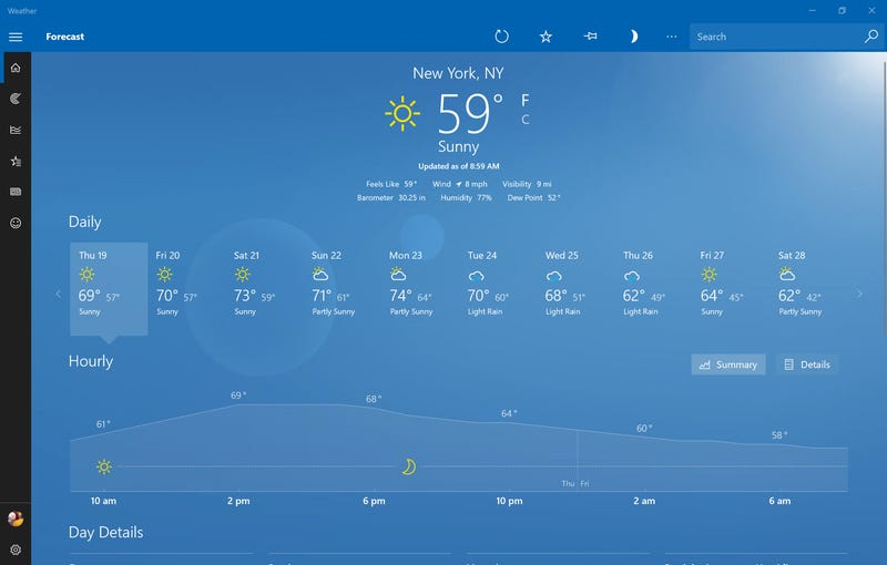 The Best Desktop Weather Apps | Lifehacker Australia
