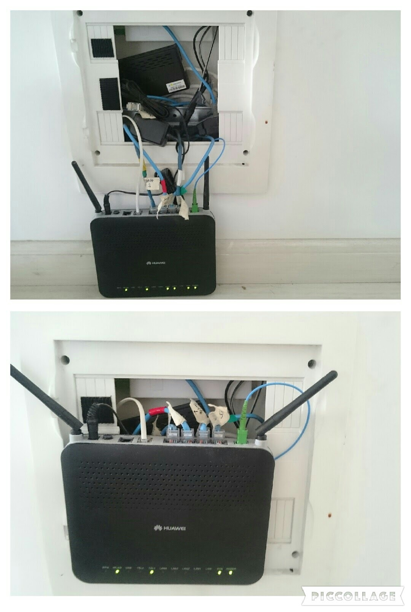 Keep Your Networking Gear Organized With A Wall Mounted Velcro Board Cable Modem Wireless Router Connection On Home Tv Wiring My Objective Leans More Towards Hiding Crap Rather Than Organizing So Theres That Plus I Dont Have The Space For Proper Cabinet