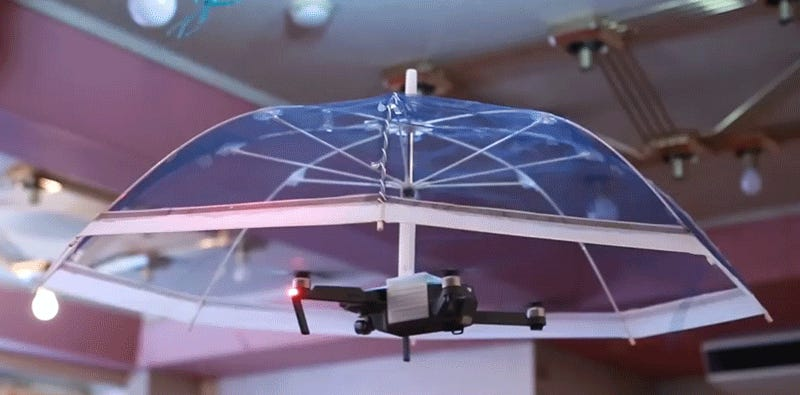 Flying, Hands-Free Umbrellas Just Might Be the Perfect Use For Drones