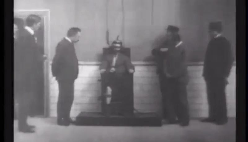 Astounding How Thomas Edison Used A Fake Electric Chair Execution Film Cjindustries Chair Design For Home Cjindustriesco