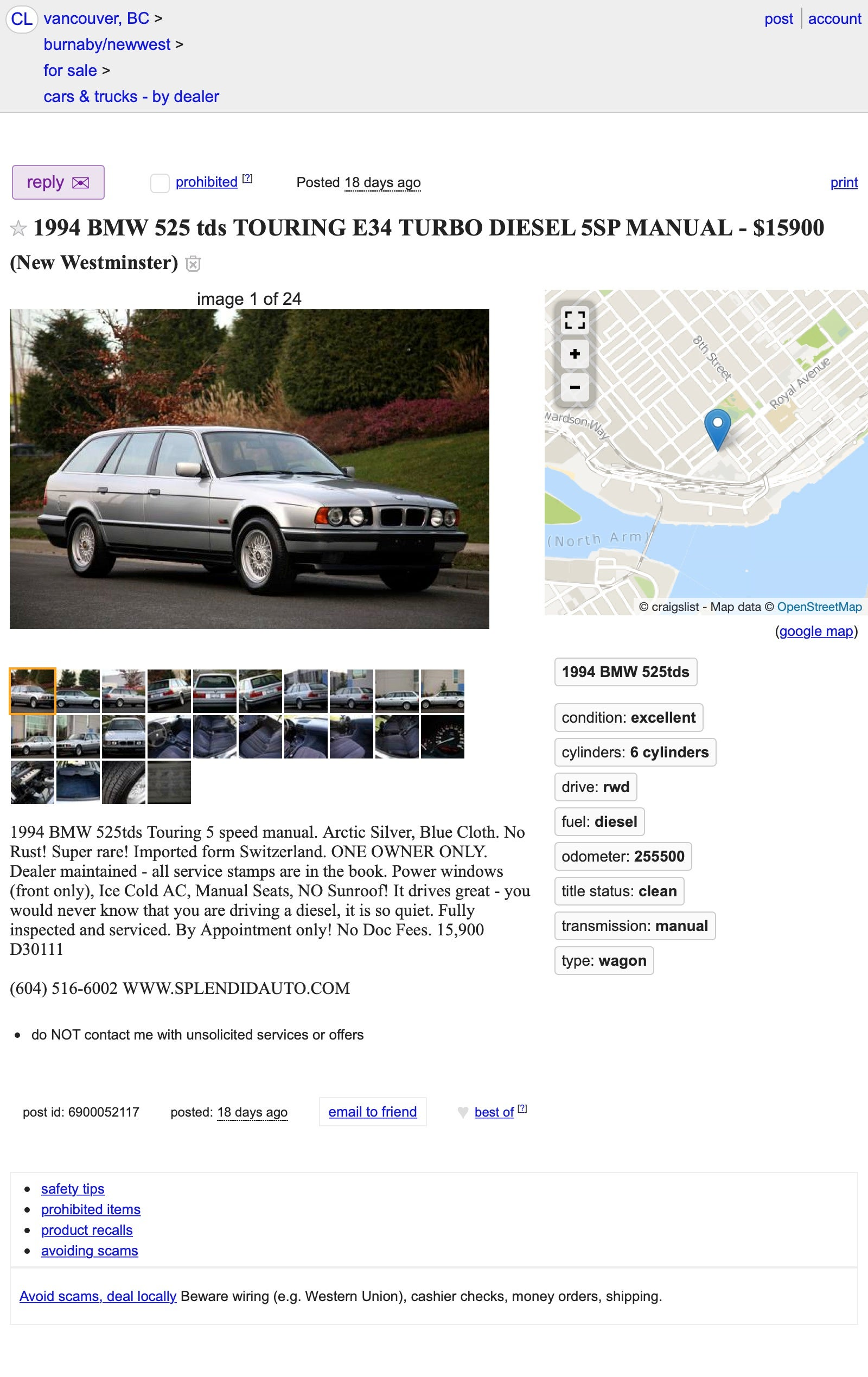 At 15 900 Canadian Could This 1994 Bmw 525tds Estate Be The New Family Canuckster