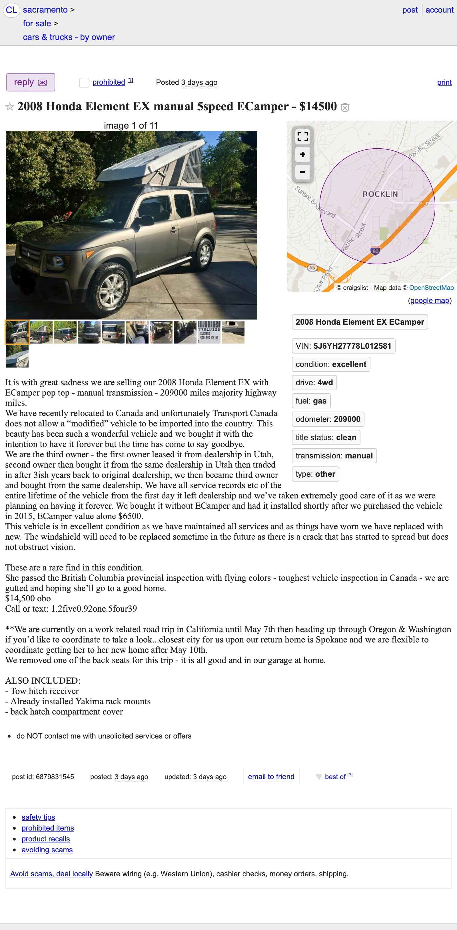At $14,500, Will This Pop-Top 2008 Honda Element Have You
