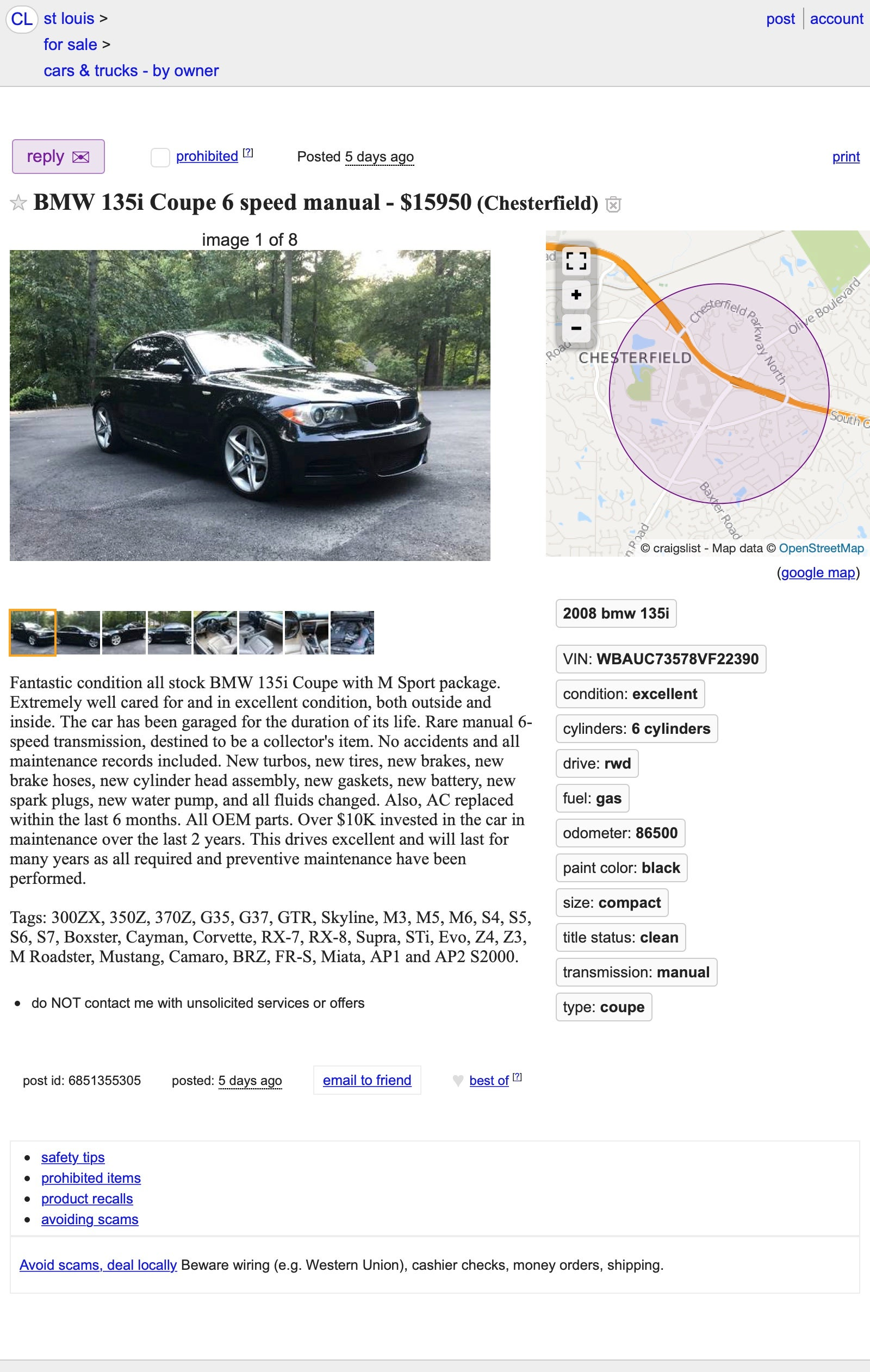 At 15 950 Could This Rare 2008 Bmw 135i 6 Speed Be A Manual Labor