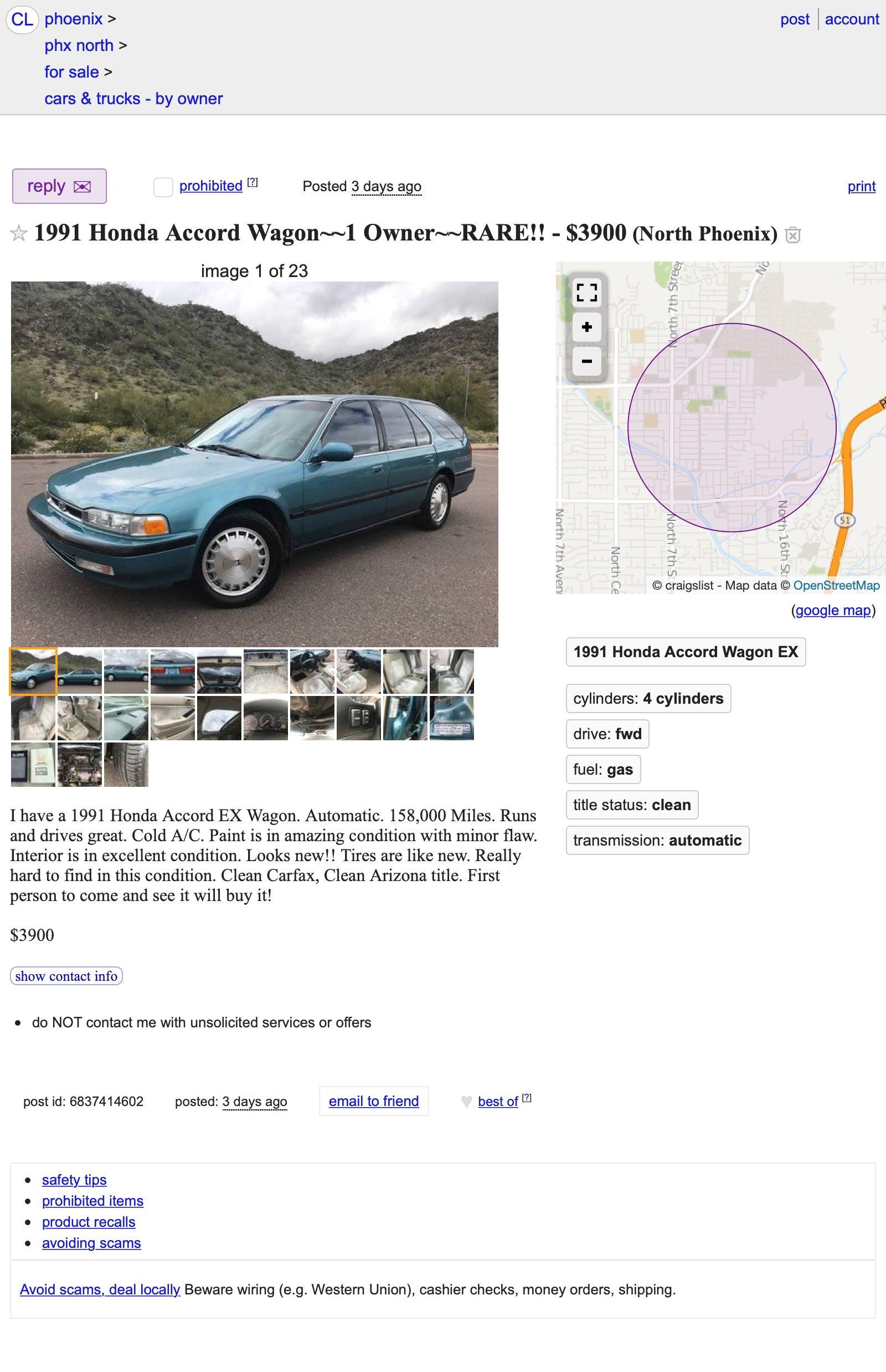 Does its $3,900 Price Make This 1991 Honda Accord EX a Wagon Worth