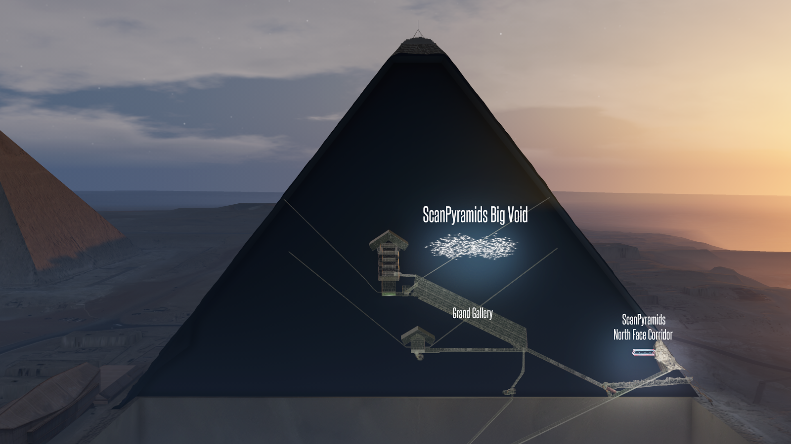 The void in the Pyramid of Giza as featured in Assassin's Creed Origins