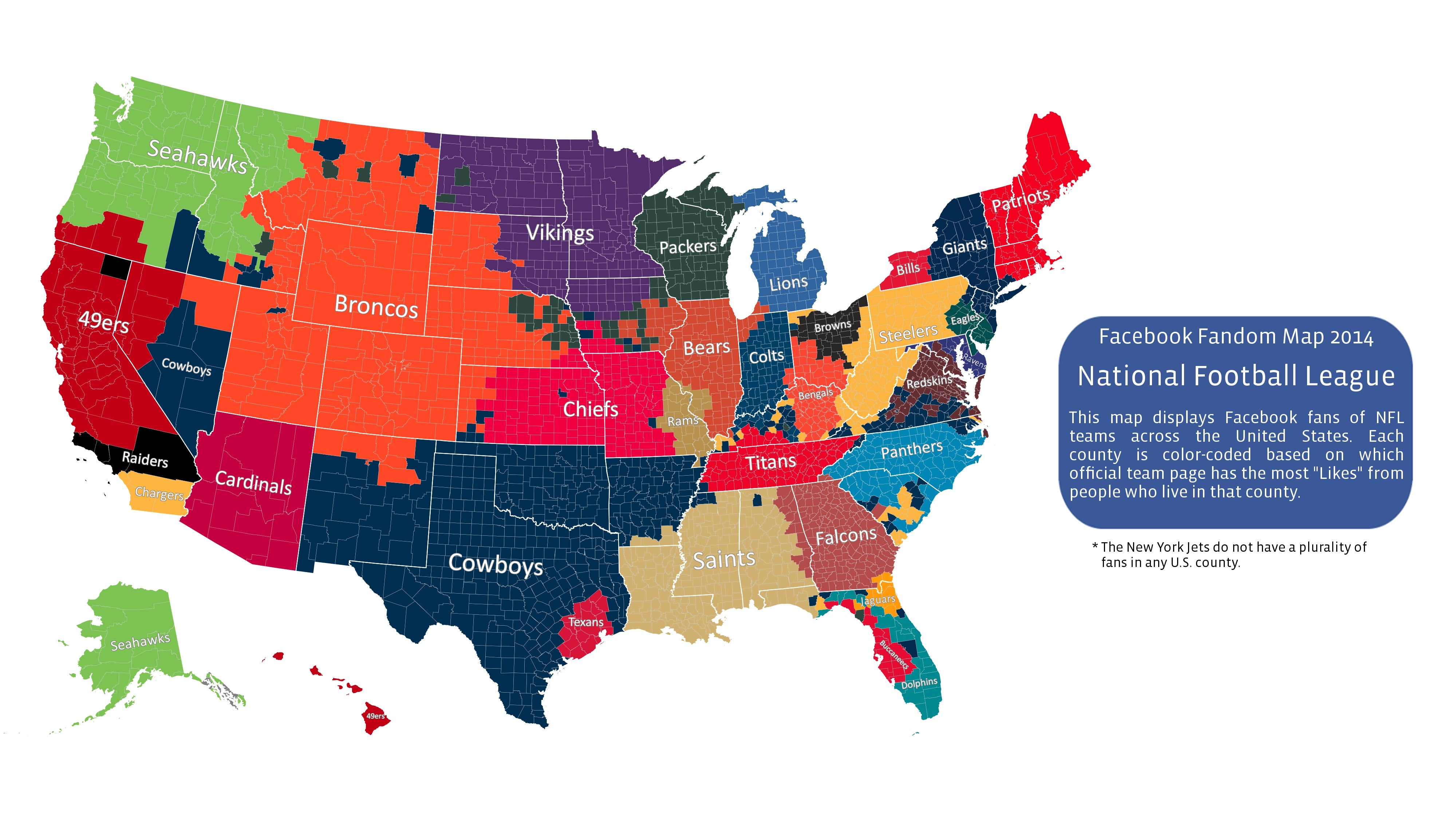 Here's Facebook's 2014 NFL Fandom Map on personal excellence map, ontario camping map, live wallpaper map, wolf hall map, world map, social network map, us attorney map, map my run map, local business map, pharmacy group map, i love me map, the dc map, business empathy map, meralco theater map, web navigation map, today's weather map, e australia map, phone book map, business vision map, mi zone map,