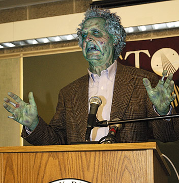 Zombie Nutritionist Recommends All-Brain Diet