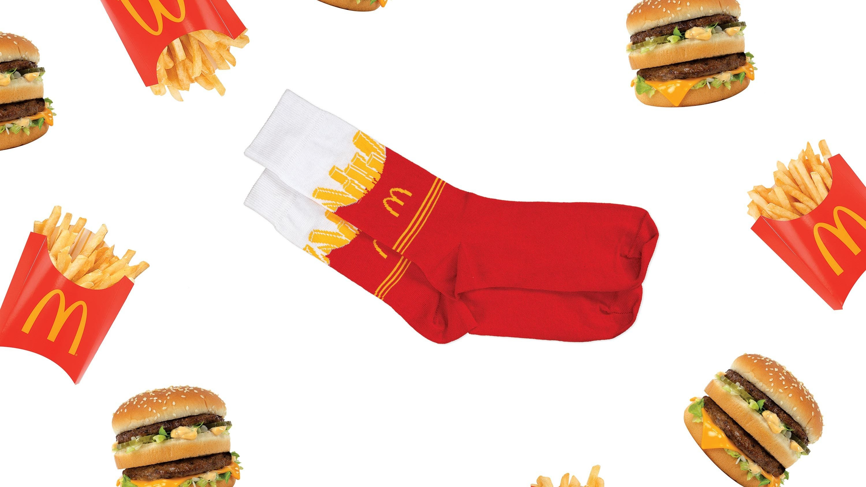 Promotional banner from the collaboration of McDonald's and Uber Eats.