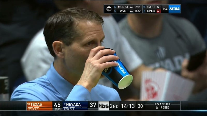 "Illustration for article titled Nevada's Eric Musselman On Personal Hydration And His Need To Pee: ""It's Been A Great Concern Of Mine"""
