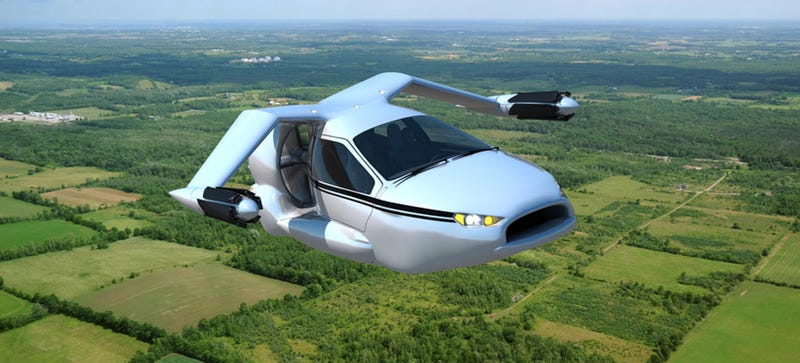 Illustration for article titled Flying Cars Are Just Two Years From Reality ¯\_(ツ)_/¯