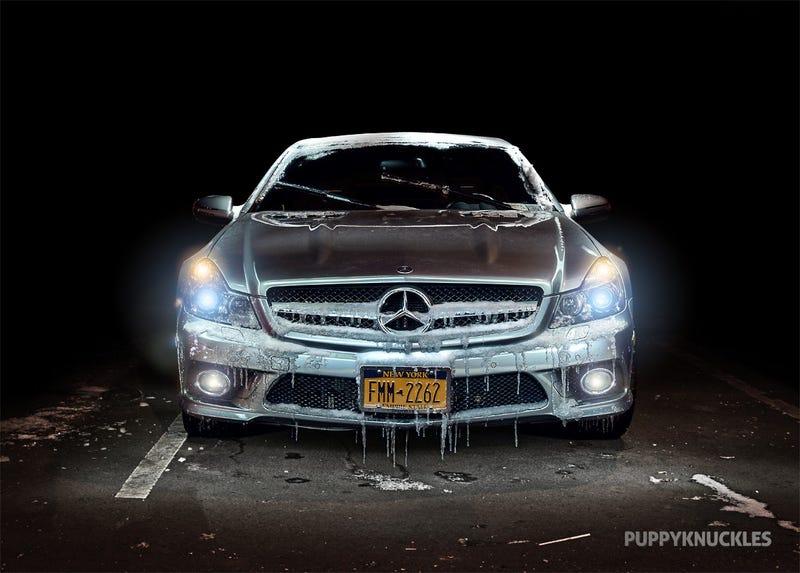 Illustration for article titled Light Painted Mercedes SL63