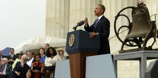 President Obama at the March on Washington's 50th anniversary (Getty Images)
