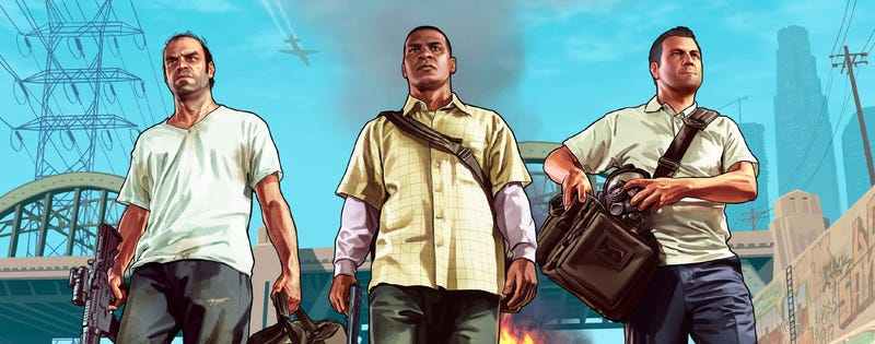 Illustration for article titled Heavily-Armed Cops Turn Up To GTA V Launch Stunt