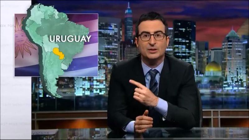 Illustration for article titled John Oliver loves highlighting Americans' poor sense of geography