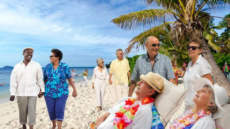 The nation discovered to their shock and horror that the funds they were counting on to ease their burdens late in life were now being spent by baby boomers in tropical bliss.