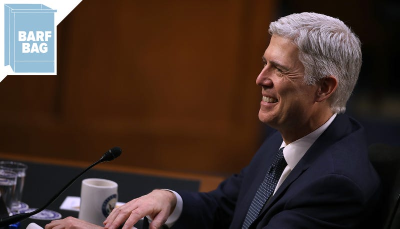 Neil Gorsuch takes first of 2 oaths, prepares to join court