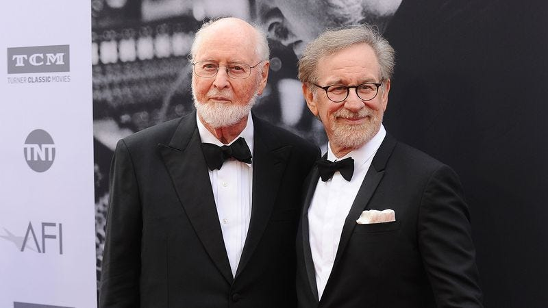 John Williams and Steven Spielberg at the recent AFI tribute to the composer's career. (Photo: Getty Images)