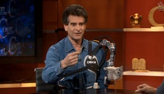 Illustration for article titled Dean Kamen Appears on Colbert Report, Literally Armed with Bionic Limb