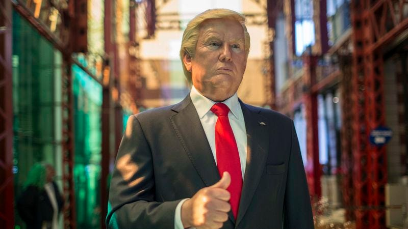 A wax statue of Donald Trump, placed in the Wax Museum in Mexico City, Mexico. (Photo:Miguel Tovar/LatinContent/Getty Images)