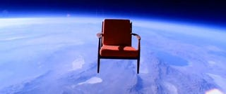 Illustration for article titled Video: Arm Chair Reaches 98,268 Feet in New Toshiba Commercial