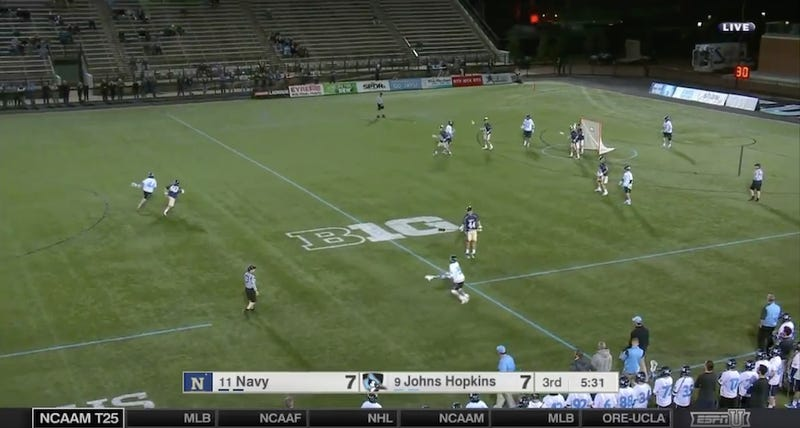 Illustration for article titled Johns Hopkins Lacrosse Pulled Off A Flawless Hidden-Ball Trick