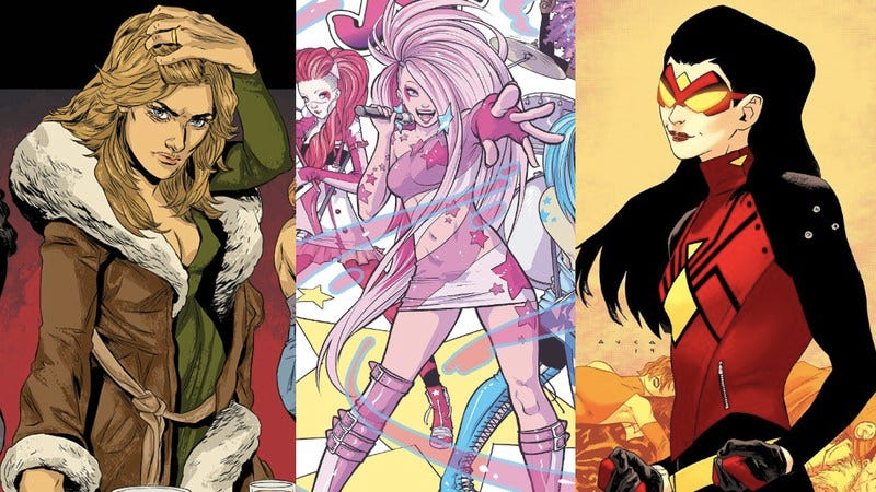 Fashions of The Kitchen, Jem And The Holograms, and Spider-Woman