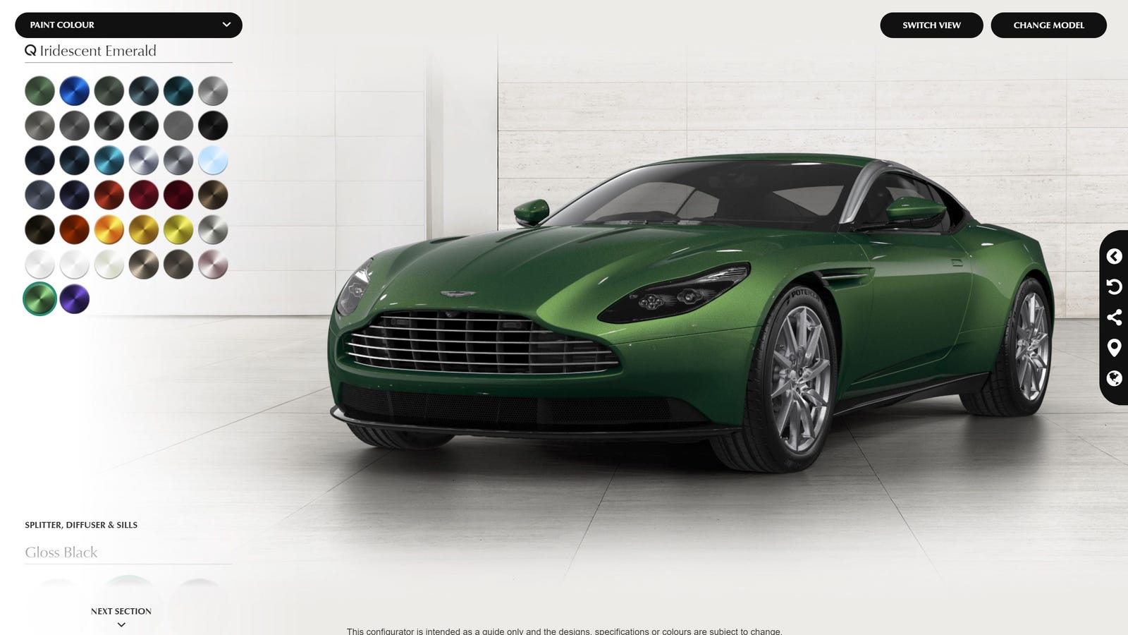 notice the aston martin db11 has a new configurator i think. Black Bedroom Furniture Sets. Home Design Ideas