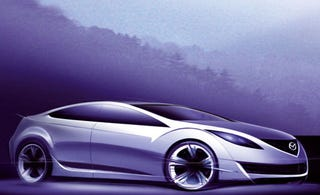 Illustration for article titled Mazda6 Coupe Sketch An Old Mazda Drawing