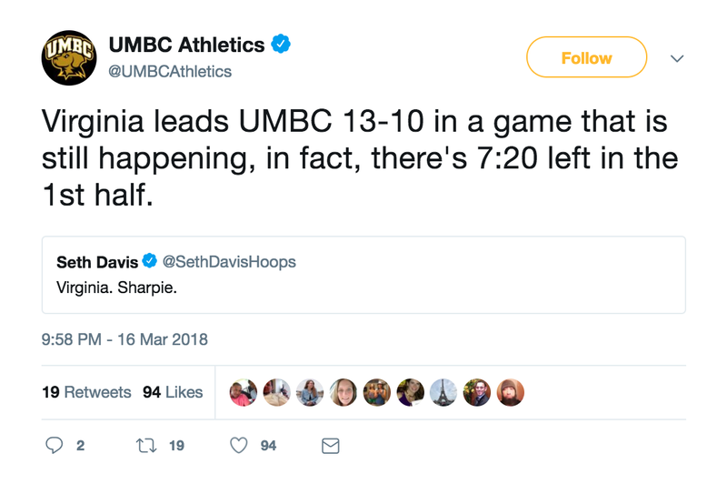 Illustration for article titled UMBC's Twitter Account Is Last Night's Real Winner