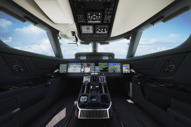 Illustration for article titled New Gulfstream jets' flight deck looks like a sci-fi spaceship cockpit