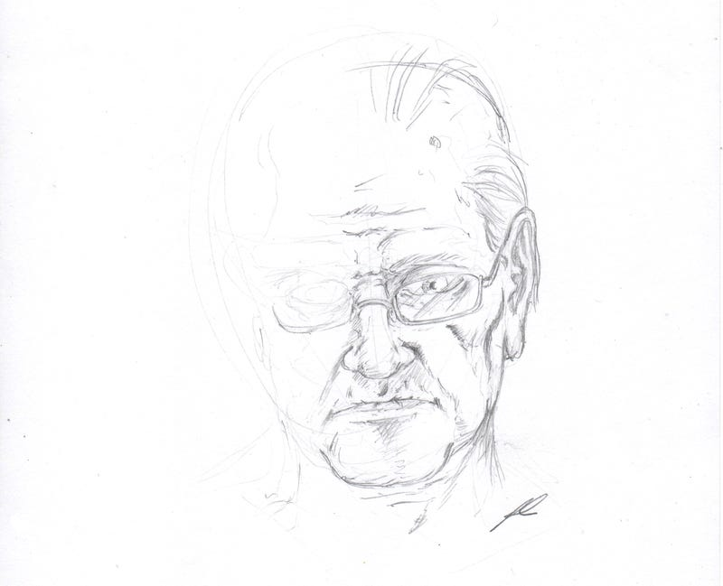 Illustration for article titled sketch of old dude