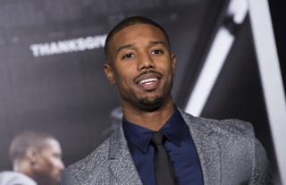 Michael B. Jordan attends the Los Angeles premiere of Creed Nov. 19, 2015.VALERIE MACON/Getty Images