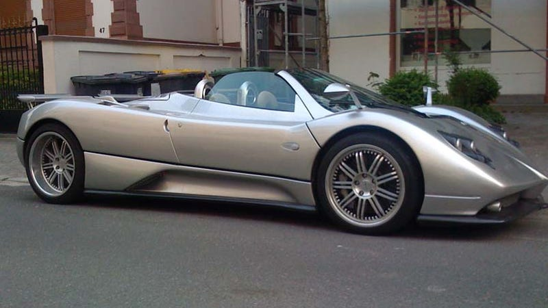 ho hum just another pagani zonda parked on the frankfurt street. Black Bedroom Furniture Sets. Home Design Ideas