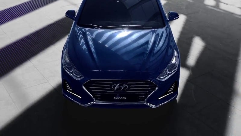 """Illustration for article titled Hyundai Used the """"Twisted Nerve Whistle"""" and Now I'm Afraid the New Sonata is a Psychotic Murdering Family Sedan"""