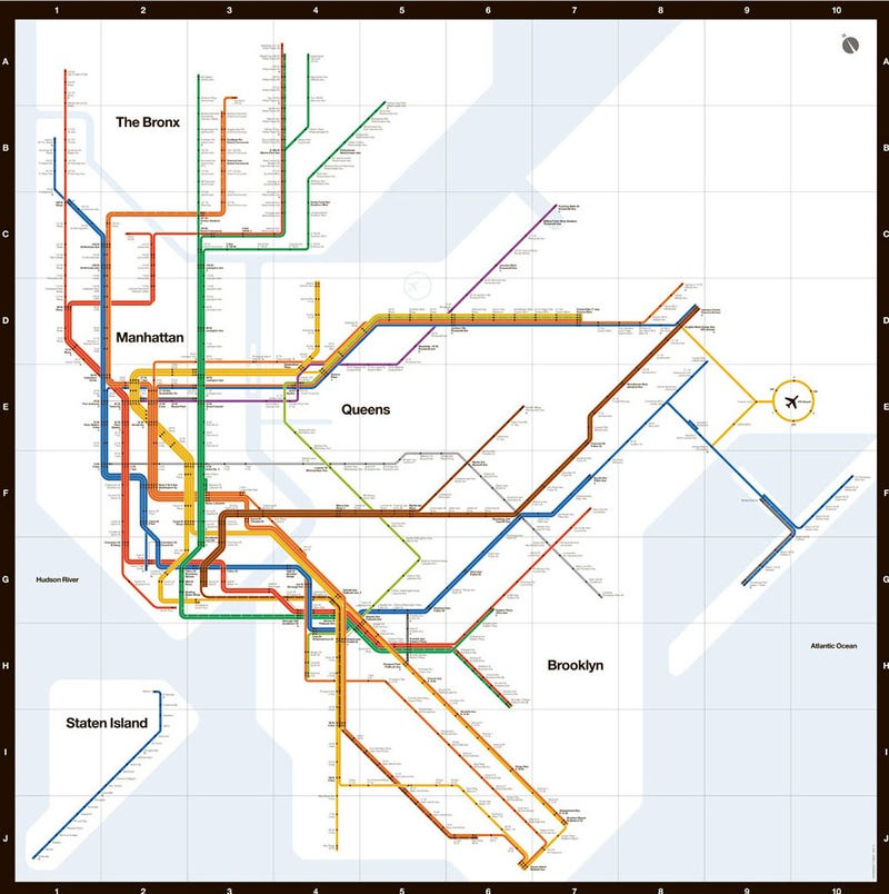 Subway Map In Manhatten.This Is Not Nyc S Newly Unveiled Subway Map
