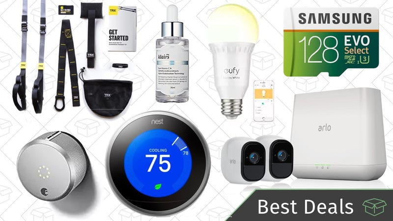 Illustration for article titled Monday's Best Deals: Smart Home Deals, MicroSD Card, TRX Training System, and More