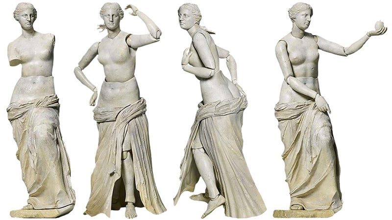 Illustration for article titled This Action Figure Finally Gives theVenus de MiloHer ArmsBack