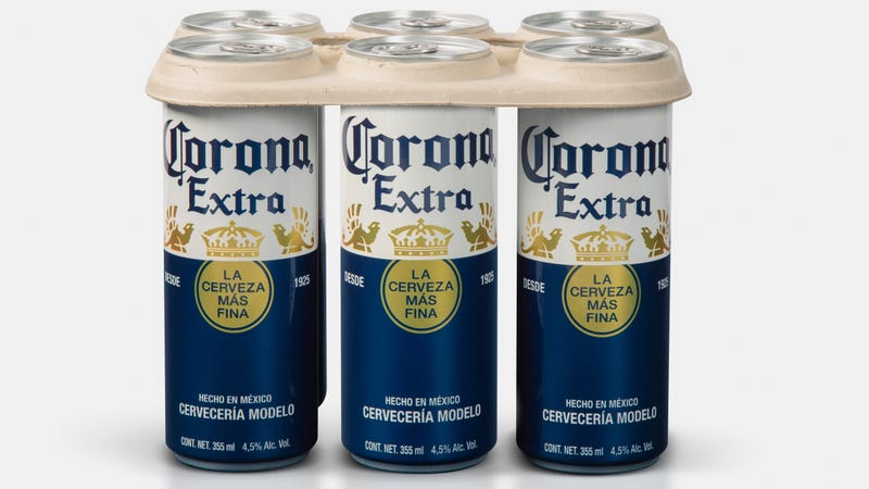 Illustration for article titled Plastic-free six-pack rings to debut on Corona cans